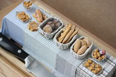 Dollhouse Bakery - Miniature Food by PetitPlat - Stephanie Kilgast, via Flickr