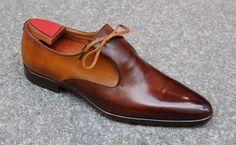 2 Tone Brown Handmade Shoes, Men's V Shape Leather Loafer Formal Shoes Leather Dress Shoes, Leather Loafers, Leather And Lace, Leather Men, Brown Leather, Leather Jackets, Me Too Shoes, Men's Shoes, Shoe Boots