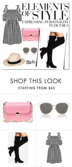 """Shein"" by dajana-miletic ❤ liked on Polyvore featuring Valentino, Christian Dior, Topshop, Roxy and Vera Wang"