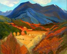"Saatchi Art Artist Lynne Friedman; Painting, ""Valdez Arroyo- New Mexico"" #art"