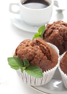 Muffins σοκολάτας με τζίντζερ   ION Sweets