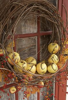 apple wreath…….