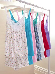 Victoria's secret PJ's. I want also the long sleeve, long sleep shirts please!