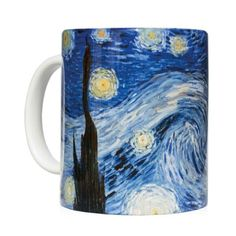Mug starry night - Taza noche estrellada Vincent Van Gogh - Kessler Museum Merchandising ( · · Mug Art, Van Gogh Paintings, Vincent Van Gogh, Fashion Art, Art Work, Museum, Mugs, Night, Diy