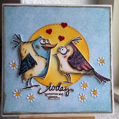 Sidste pip fra mig idag #crazybirds #cardmaking