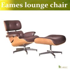450.00$  Buy here - http://aliuxi.worldwells.pw/go.php?t=32701175618 - U-BEST Mid Century Modern design  Emes Lounge Chair,stylish interiors easy chair furnishings made of molded plywood and leather 450.00$