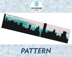 Bead Loom Pattern: NYC New York City Skyline by ScarabJewels                                                                                                                                                                                 More
