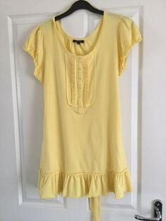 d126ca6bee3 Beautiful Ladies Lemon Yellow Long T Shirt/ Tunic Matalan Papaya Size 14  #fashion #