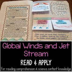 Global Winds, Jet Stream, Coriolis Effect Reading Comprehension Interactive Notebook Activity: reading passage, application activity, and writing prompt. Many students these days have a terribly difficult time comprehending nonfiction & informational text - textbooks, websites, articles etc.