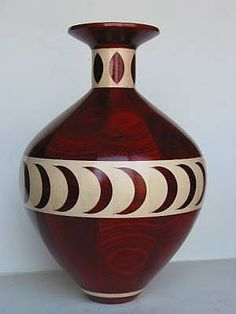 irreplaceable vases | Bloodwood and holly woodturned bottle. This one was done by inlaying a ...