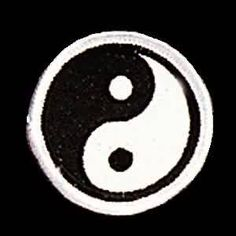 """yin (black) yang (white ~  The outer circle represents """"everything"""", while the black and white shapes within the circle represent the interaction of two energies (""""yin"""" &""""yang"""") which cause everything to happen. They are not completely black or white, just as things in life are not completely black or white, and they cannot exist without each other."""