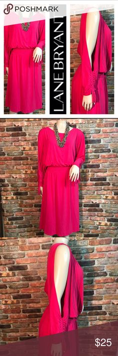 🌺 Lane Bryant Cold Shoulder Pink Dress 🌺 🌺Selling fresh Lane Bryant Dress  🌺Has that sexy arm opening  🌺Size 18-20 .. 🌺Looks Super New  🌺Please check out my Plus Size Clothing & Bundle  🌺Lets Work Something Out .. Lane Bryant Dresses Maxi