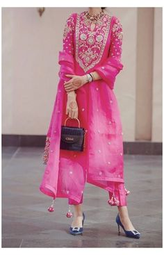 Embroidery #suit #designs #indian #style #suit #designs #indian #style #neck #suitdesignsindianstylesuitdesignsindianstyleneck Untitled Indian Bridal Outfits, Indian Fashion Dresses, Dress Indian Style, Indian Fashion Salwar, India Fashion, Japan Fashion, 80s Fashion, Fashion History, Indian Wear