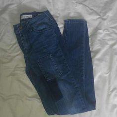 Bullhead denim pants Denim patchwork, skinny, high waisted Bullhead Jeans Skinny