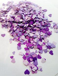 1500 Purple Heart Confetti Purple Wedding by FreshlyCutCrafts