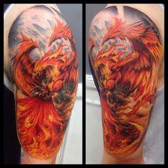 Imágenes de moda de Tatuajes de ave fénix