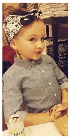 pin up..tattooed..stylish little girl