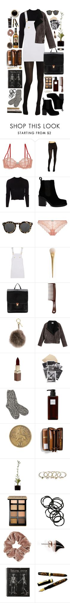 """Outfit #133"" by black-clouds ❤ liked on Polyvore featuring Heidi Klum Intimates, Hue, ONLY, ASOS, Illesteva, Frame Denim, Morgan, Hstyle, Fendi and Chicnova Fashion"