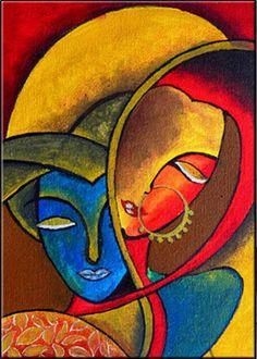 Indian Art Paintings, Modern Art Paintings, Art Painting Gallery, Painting Art, Abstract Painting Modern, Abstract Art Paintings, Abstract Face Art, Cubist Art, Small Canvas Art