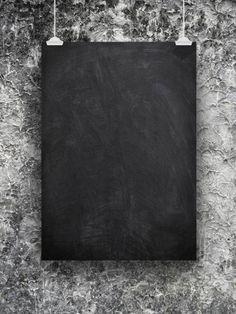 single blank black blackboard frame