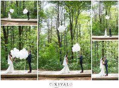 First look with balloons Barn at Flanagan Farm || Buxton Maine Wedding Photographer