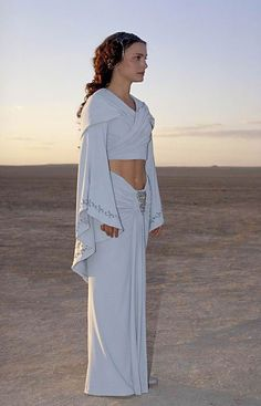 Padme's Light Blue Dress on Tatooine- Episode II. This one of my favorite Padmé dresses from episode 2.