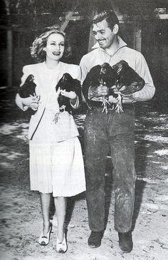 Clark Gable & Carole Lombard (wife):