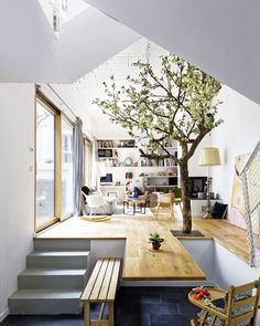 Would You Have A Tree In The Middle Of Your Home? Modern French Home  Inspiration From Hardel LeBihan Architectes.