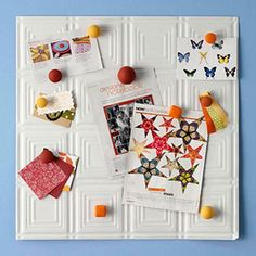 Make a Memo Board from a Tin Ceiling Tile