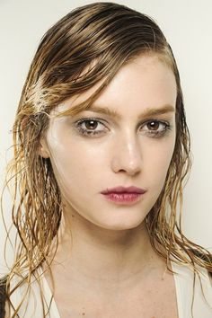 Autumn/Winter 2013-14  Prada- Wet hair look