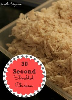 Get perfectly shredded chicken in 30 seconds using a KitchenAid mixer!