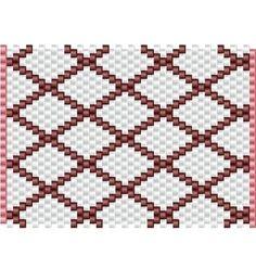Key Chain Case, pattern in peyote stitch
