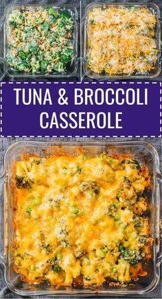 This is an easy, low carb, and keto recipe for baked tuna casserole with broccoli. It's simple and quick to make, with only 6 ingredients, and incredibly comforting, creamy, and cheesy. Both kids and adults alike will enjoy this healthy, homemade meal. No milk, no soup, and no noodles required to make this. Click the pin to find the recipe, nutrition facts, tips, and more photos. #healthyrecipes #lowcarb #keto