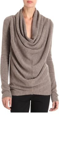 Drape Front Cowlneck Sweater