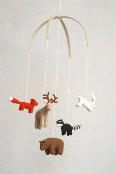 baby mobile  woodland mobile  forest animals mobile  baby