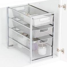 Platinum Cabinet-Sized elfa Mesh Drawer Solution