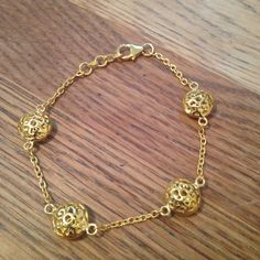 Yellow gold plated silver bracelet