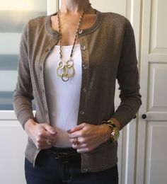 Gold Flecked Cardigan