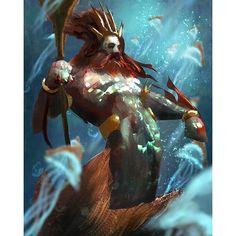 #mermaid #king #30minute #speedpainting  #photoshop #painting #digital #art #sketch #fantasy #drawing #medieval #daily #sea #sketchbook #sketch_dailies #instaart #instagood #likes #picoftheday #speed #magic #igart #igers #darksouls #blue #neptune #beard #red#devilzsmile, by devilzsmile.com