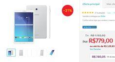 Tablet Samsung Tab E 9.6 Wi-Fi SM-T560 Tela 9.6 8GB Câmera 5MP GPS Android 4.4 Quad Core 1.3 Ghz << R$ 74005 >>
