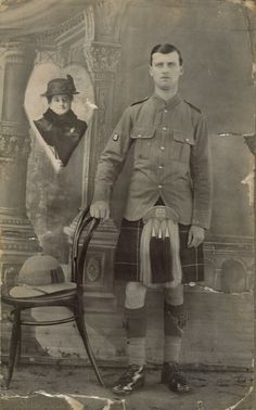 Unknown Highland Light Infantry private, taken by A. P. Ram & Co.