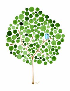 Polka dot tree art by Angela Vandenbogaard from Feed Your Soul, the free art project. (via spearmint baby) Free Printable Art, Free Printables, Illustration, Button Art, Dot Painting, Painting Trees, Little Birds, Free Prints, Art Plastique