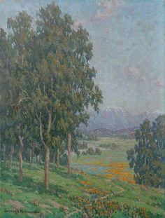 "Granville Redmond, (1871 - 1935) ""California Wildflowers"" Oil on canvas"