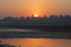 Sunrise on the black sand beach of Udvada, Gujarat, in low tide. Surreal last morning of my three months in India! Sand Beach, Black Sand, Surrealism, Sunrise, India, Explore, Outdoor, Art, Outdoors
