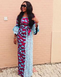 Ankara styles are trending as one of the best gorgeous dresses won in Africa. Every Fashion star in African must posses Ankara dress. The same style rule the African American Fashion, African Fashion Ankara, Latest African Fashion Dresses, African Print Fashion, African Maxi Dresses, Ankara Dress, African Attire, African Wear, Ankara Fabric
