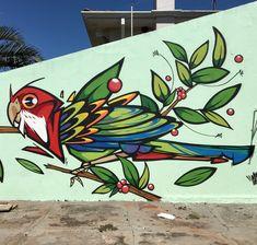 Graffiti Wall Art, Murals Street Art, Mural Wall Art, Mural Painting, Street Art Graffiti, Art Decor, Decoration, Garden Mural, Flower Mural
