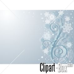 CLIPART WINTER TWIG BACKGROUND