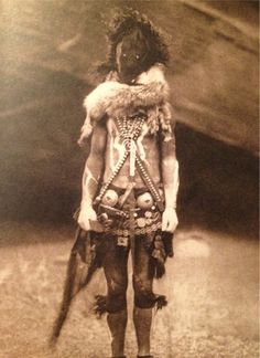 """Nayenezgani"" - Edward S. Curtis (ca. 1904) ""Literally, 'slayer of alien gods.' Navajo Indians say that Nayenezgani dealt fearful blows to the spirits of evil threatening the world."" [via answers.com]"