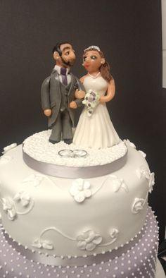 Sugarpaste Bride & Groom cake Topper