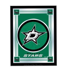 Use this Exclusive coupon code: PINFIVE to receive an additional 5% off the Dallas Stars Logo Mirror at SportsFansPlus.com Nhl Logos, Star Logo, Cool Backgrounds, Buick Logo, Dallas, Bottle Caps, Stars, Hockey, Sterne